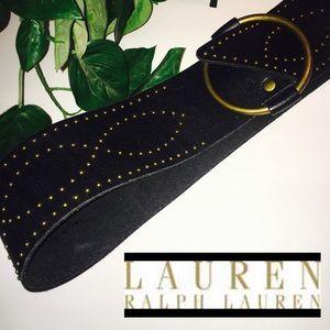 Lauren Ralph Lauren Leather Wrap Belt